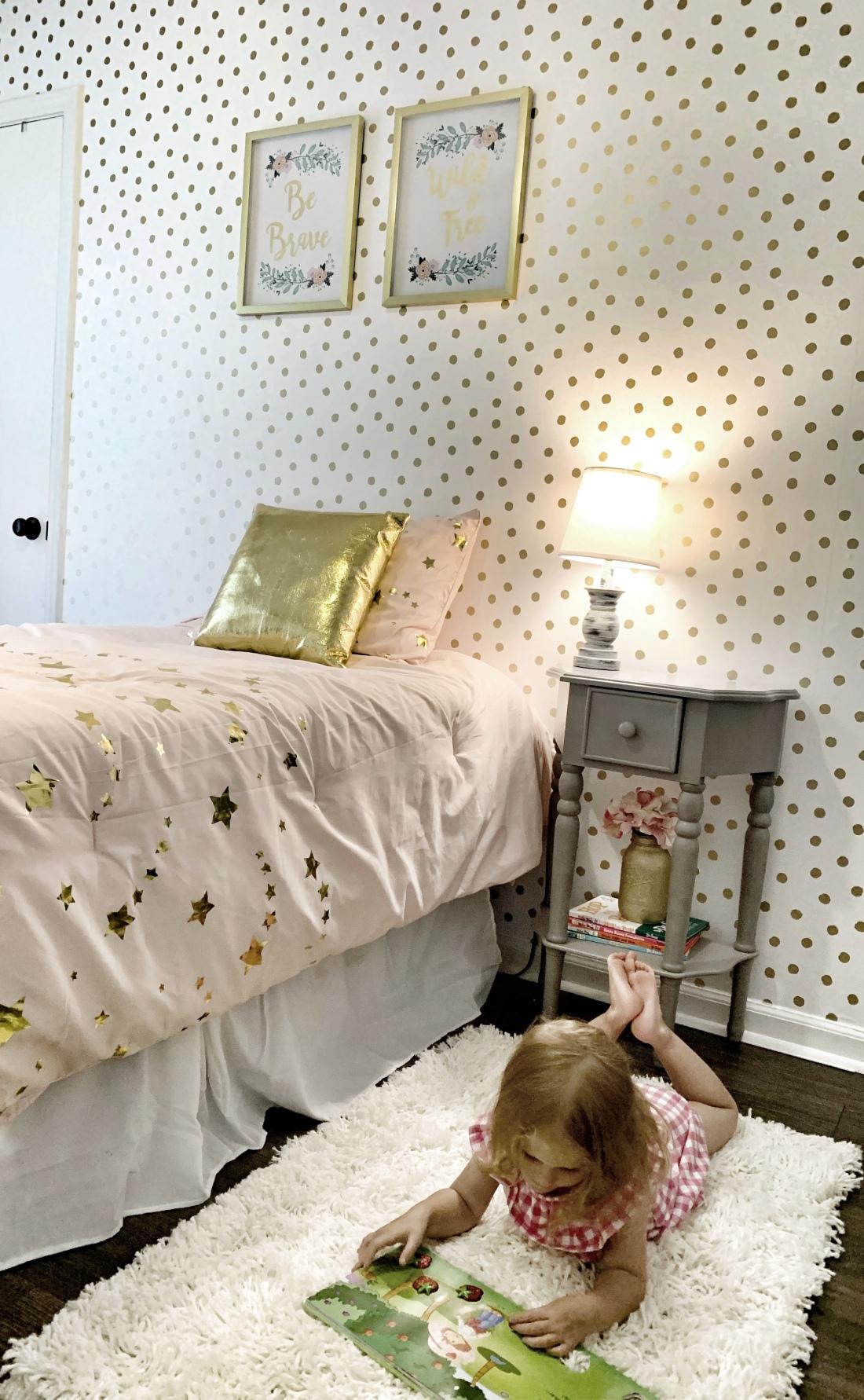 bedroom update, lamp, furniture, wall art